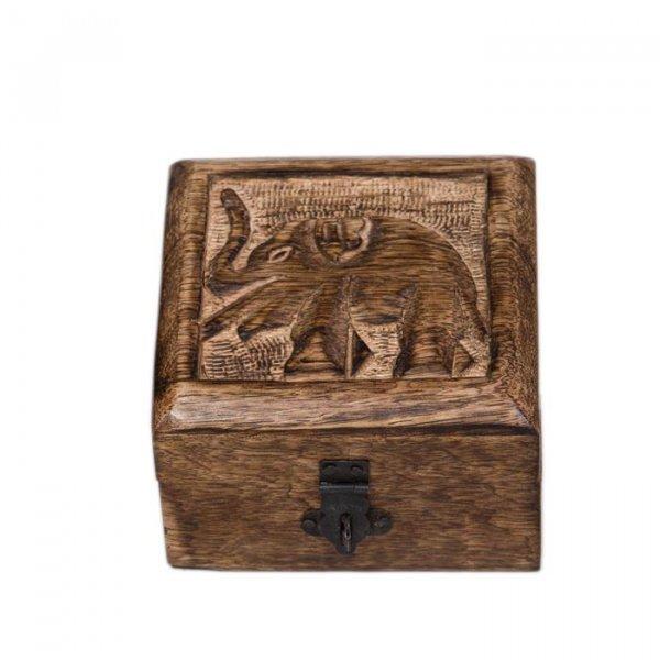 Dose mit Elefant, 10 x 10 cm