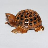 Schildkröte in Schildkröte, dunkel, ca 7,5 cm