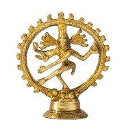 Natraj - der tanzende Shiva aus Messing ca. 10 cm