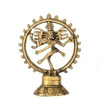 Natraj - der tanzende Shiva aus Messing,  ca. 15 cm