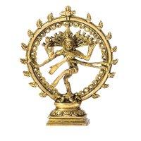Natraj - der tanzende Shiva aus Messing, ca. 17 cm
