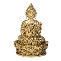 "Buddha ""Life"" aus Messing, sitzend, ca 15 cm hoch"