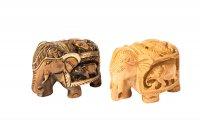 """Elefant aus Holz """"Shikar"""", Rüssel unten,..."""