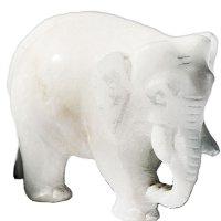 Alabaster: Elefant, seitlich, ca 7,5 cm