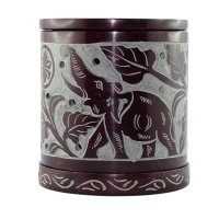 Duftlampe aus Speckstein mit Elefant 3-teilig ca. 10 cm