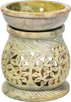 Duftlampe aus Speckstein mit Rankenmotiven ca. 11 cm