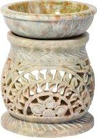 """Duftlampe aus Speckstein """"Bogen"""" ca. 11 cm"""