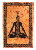 "Tagesdecke- ""Chakra"", 150x225 cm Gelb-Orange"