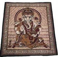 """Tagesdecke - """"Ganesha"""", 200 x 235 cm Grün"""