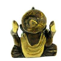 Ganesha aus Messing, sitzend, 2 farbig ca. 5,5 cm