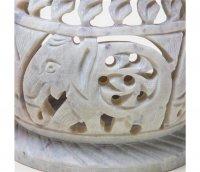 Duftlampe aus Speckstein mit Elefanten ca. 6 cm