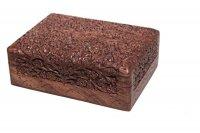 "Box ""K.T."" aus Palisanderholz, ca 18x12 cm"