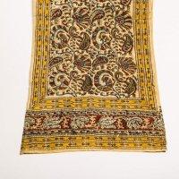 Kalamkari Schal 35x180cm, Rot-Gold mit Pesley