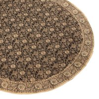 Kalamkari Tischdecke rund,150cm, schwarz