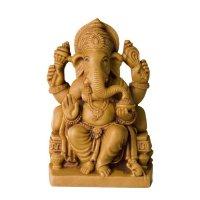 Ganesha auf Thron aus Polyresin, hell ca 12,5 cm