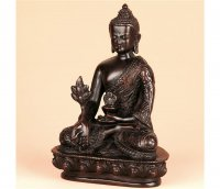 Medizinbuddha, 14 cm, dunkel