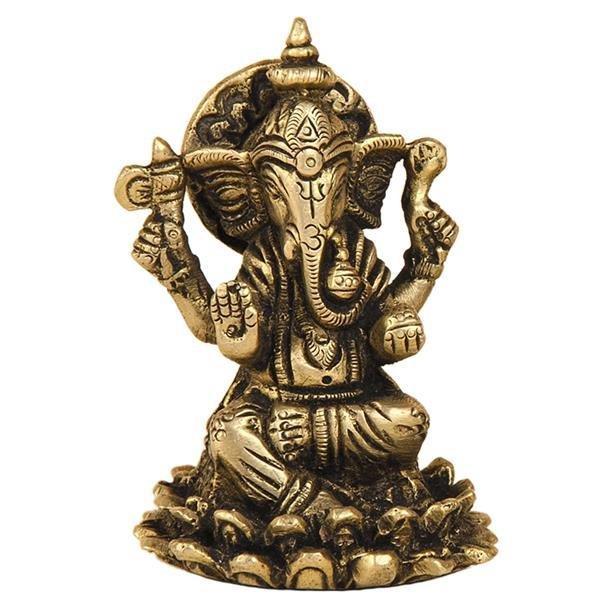 Ganesha auf Lotusblüte aus Messing, ca 8m