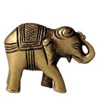 Elefant Messing, Rüssel nach oben ca. 3 cm hoch