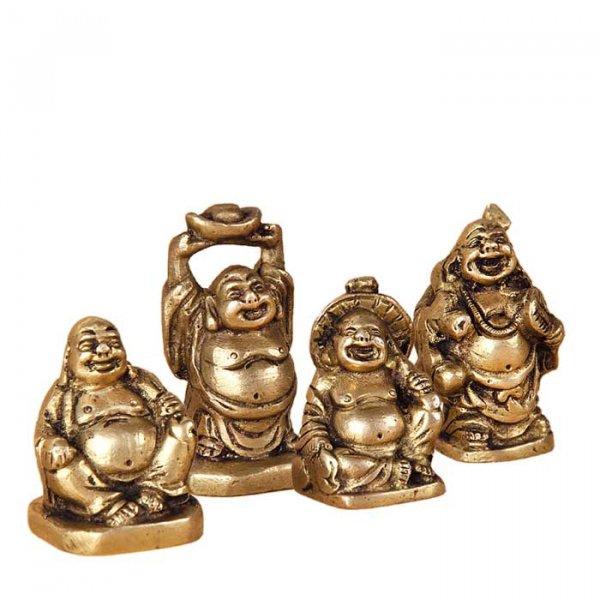 Budai - lachendes Buddha, 4er Set
