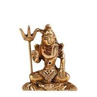 Shiva sitzend aus Messing ca. 6 cm
