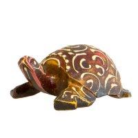Schildkröte aus Holz, handbemalt, ca 7,5 cm