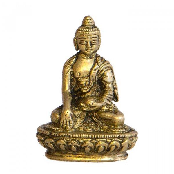Buddha aus Messing, ca 5 cm, 4er Set