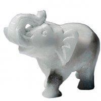 Alabaster: Elefant, grüßend, ab 5 cm